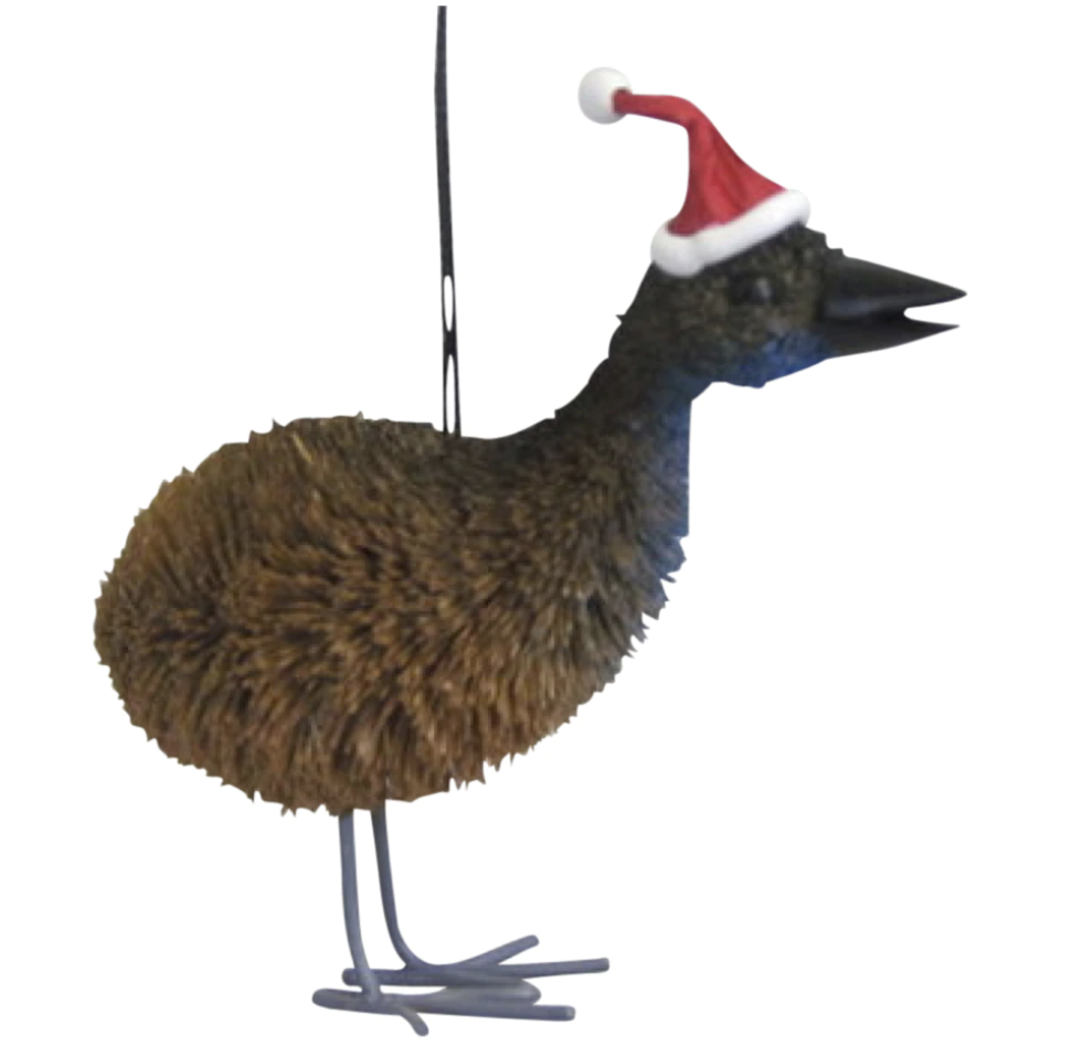 Aussie Emu Christmas Ornament
