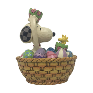 Snoopy and Woodstock Easter Basket 15cm