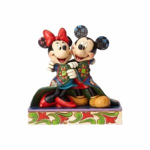 Mickey and Minnie Mouse in Quilt 12.5cm